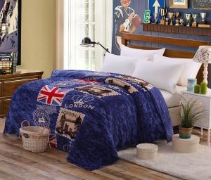 LONDON THEMED FLEECE BLANKET - London Art and Souvenirs
