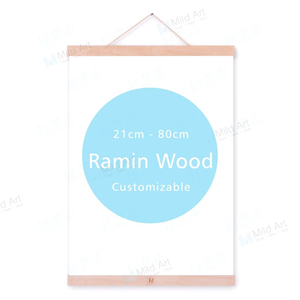Wooden Magnetic Posters Frames Modern Big Photo Pictures Canvas Painting Hanger