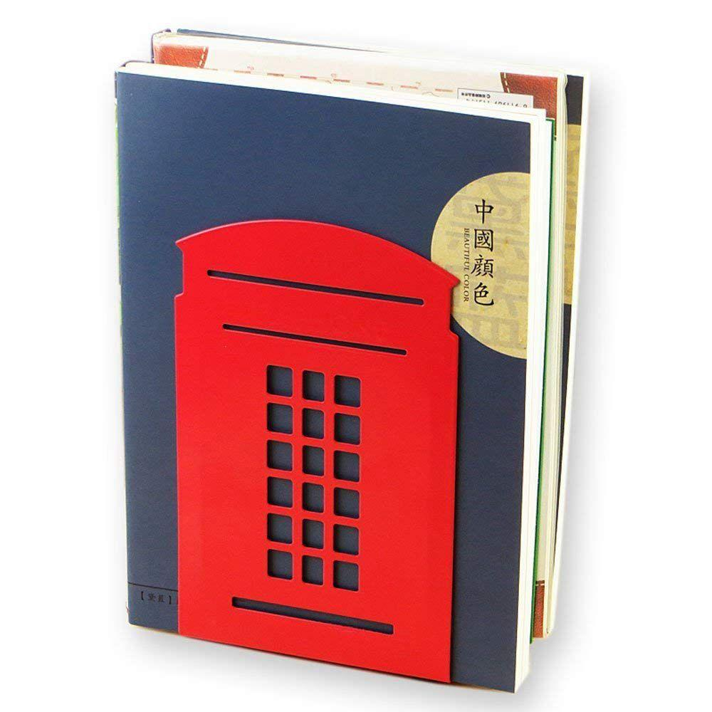 LONDON CLASSIC RED PHONEBOX BOOKENDS