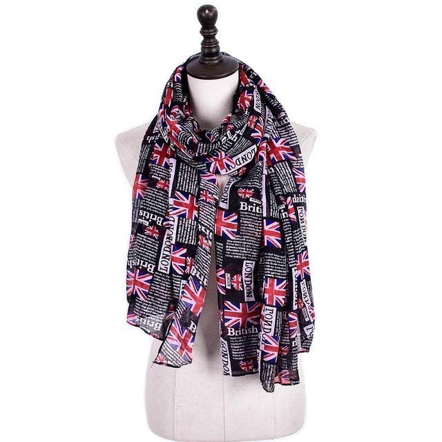 LONDON THEMED  LONG LUXURY SCARF