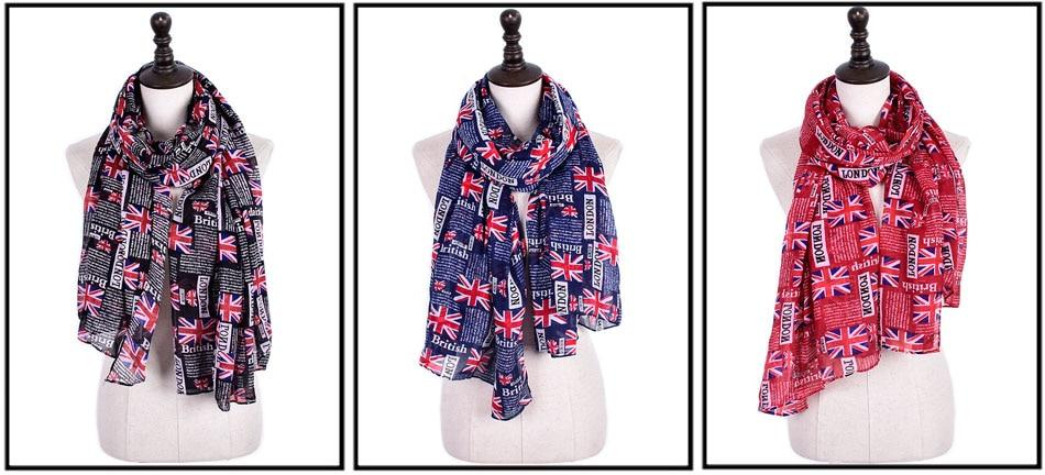 LONDON THEMED  LONG LUXURY SCARF - London Art and Souvenirs