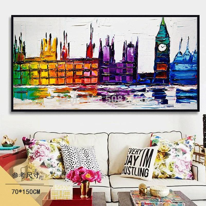 BEAUTIFULLY HAND PAINTED LONDON OIL PAINTING