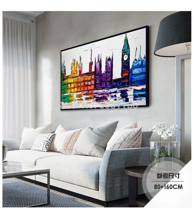 BEAUTIFULLY HAND PAINTED LONDON OIL PAINTING - London Art and Souvenirs