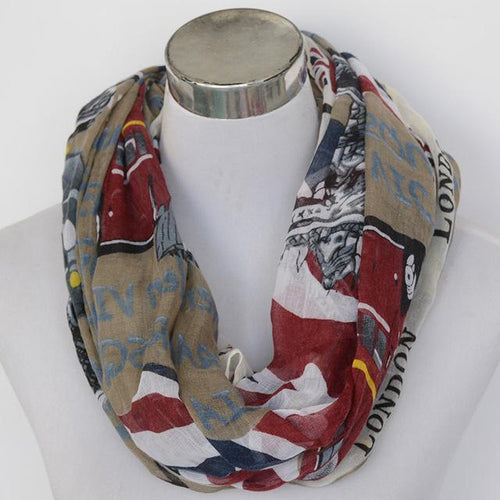 BEAUTIFUL LONDON DESIGN INFINITY SCARF OR WRAP
