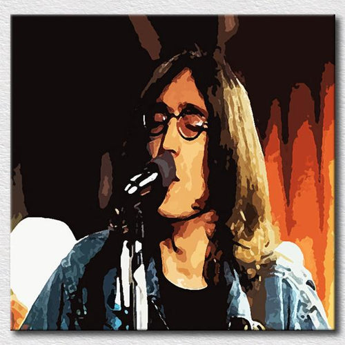 John Lennon Beatles  Hand Painted oil painting on canvas UNFRAMED