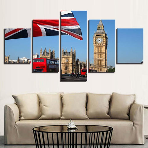 BEAUTIFUL 5 PIECE LONDON ART PRINT ON CANVAS - London Art and Souvenirs