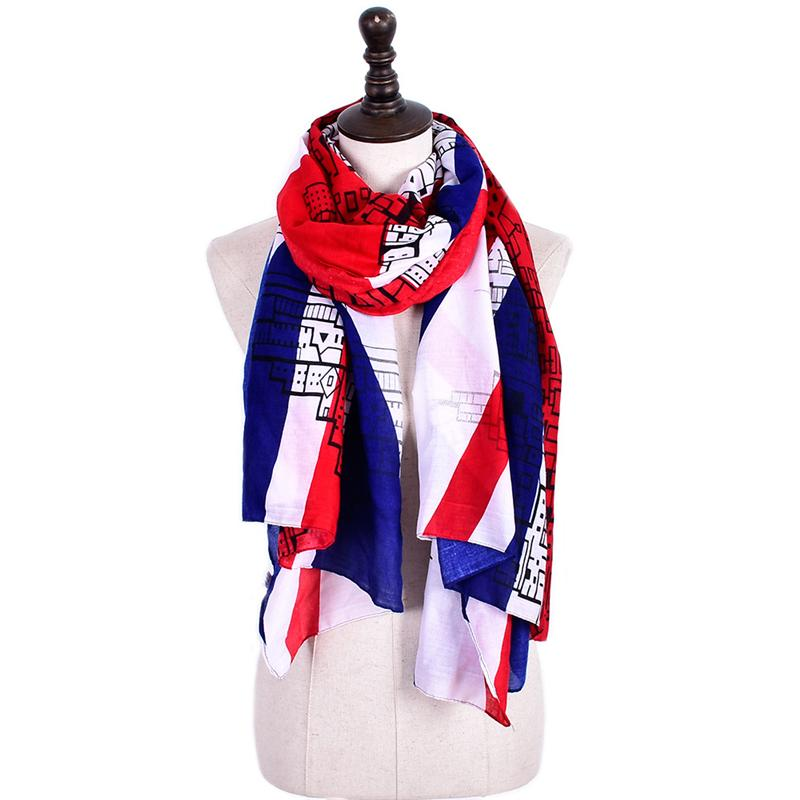 ELEGANT UNION JACK  COTTON SCARF