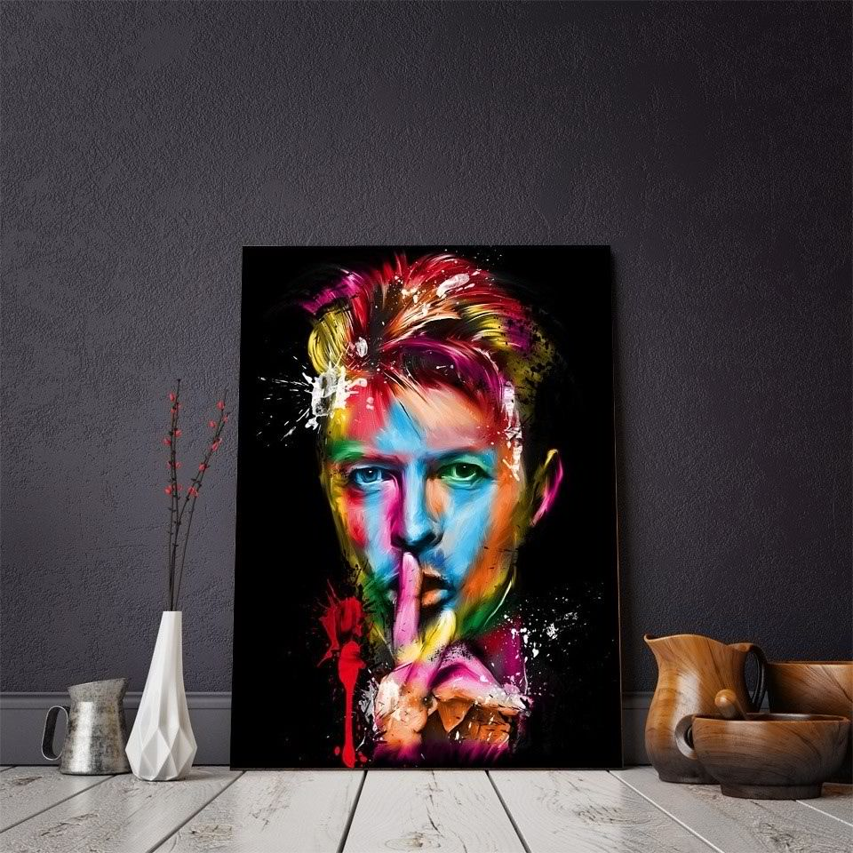 MAGNIFICENT HD Canva Prints on David Bowie British Singer Songwriter FRAMED OR UNFRAMED - London Art and Souvenirs