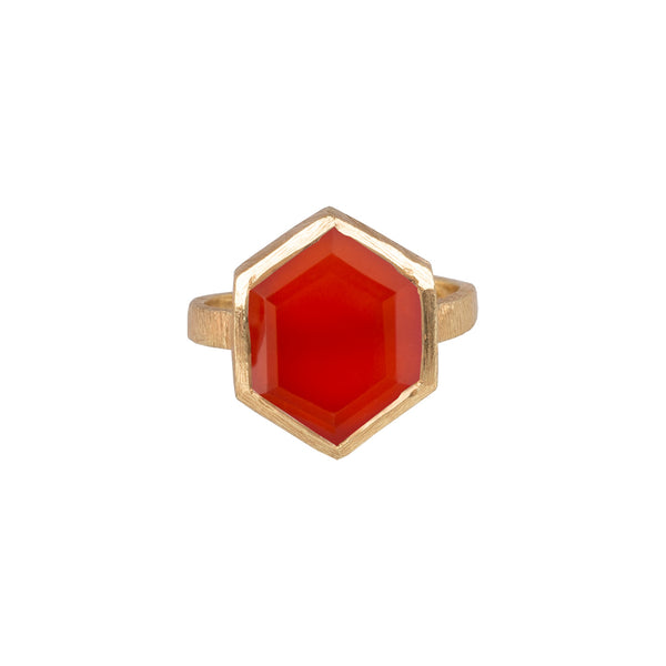 Hexagon Ring Gold
