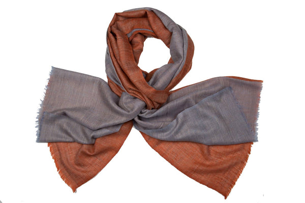 Double colour blocks - Grey + Burnt Orange