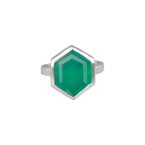 Hexagon Ring Silver