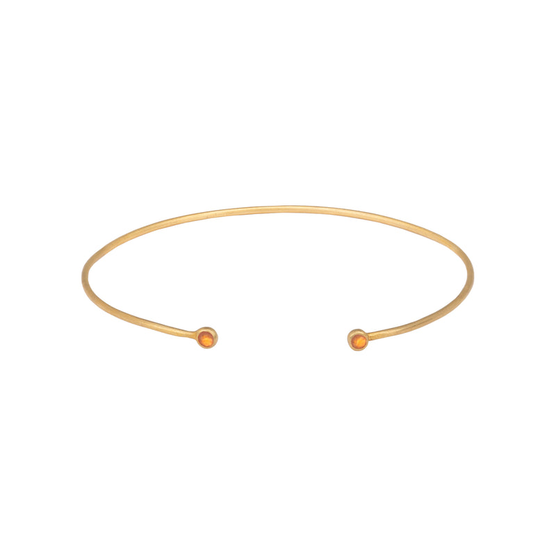Fine bangle with round ends Gold