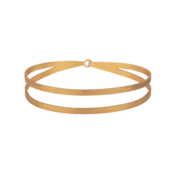 Double band bangle with hook