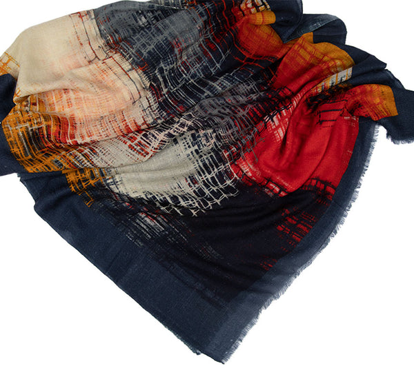 Cashmere Scarf - Printed Stoles - Abstract
