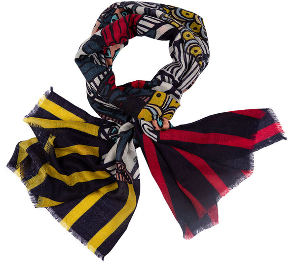 Cashmere Scarf - Printed Stoles- African Flowers