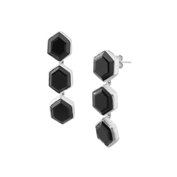 Triple Hexagon Dangler Silver