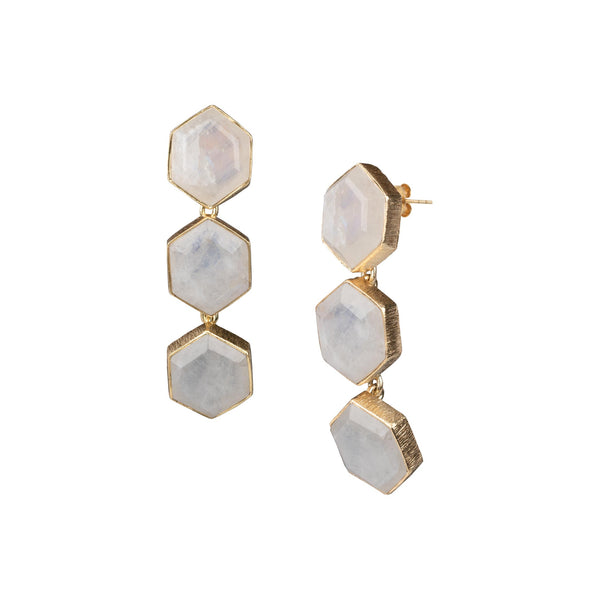 Triple Hexagon Dangler Gold