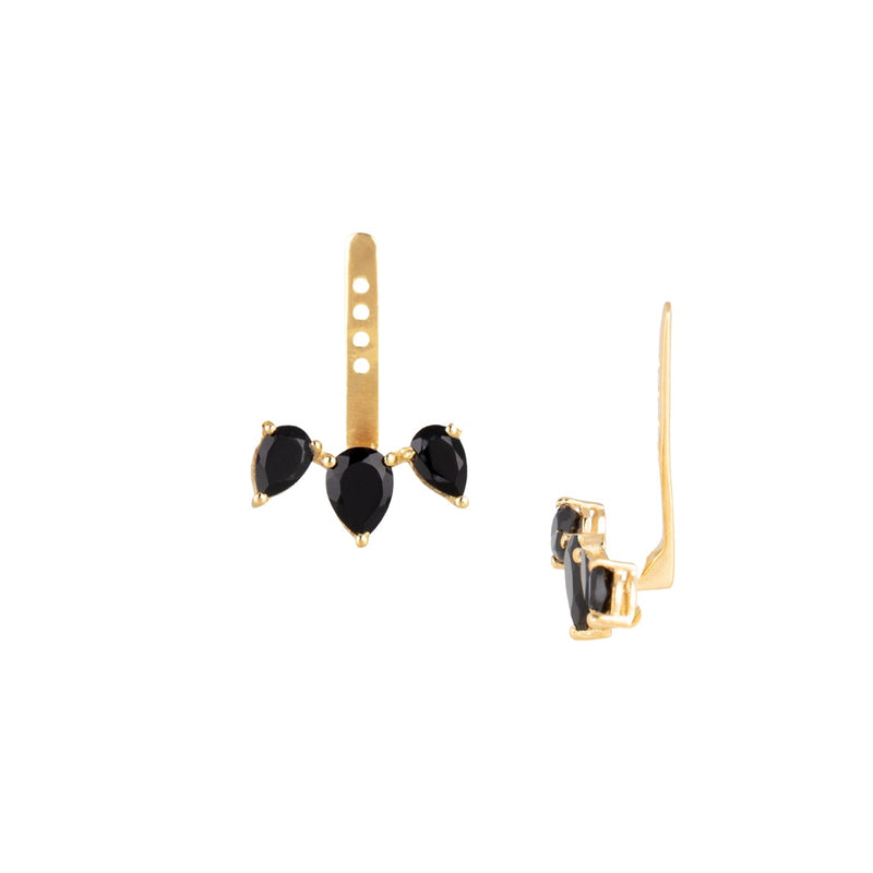 Earring with Five Stone Jacket Gold