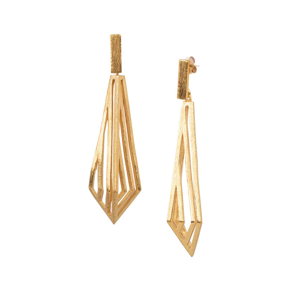 Geo Diamond long 3D grid danglers