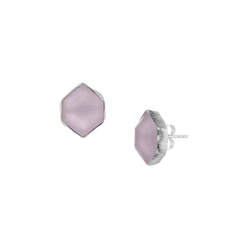 Hexagon studs Silver