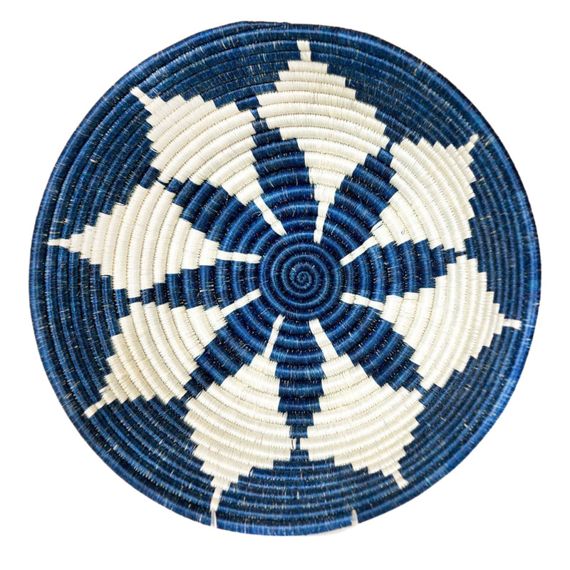 Large 30cm Blue Night Round Basket for Fruits and More