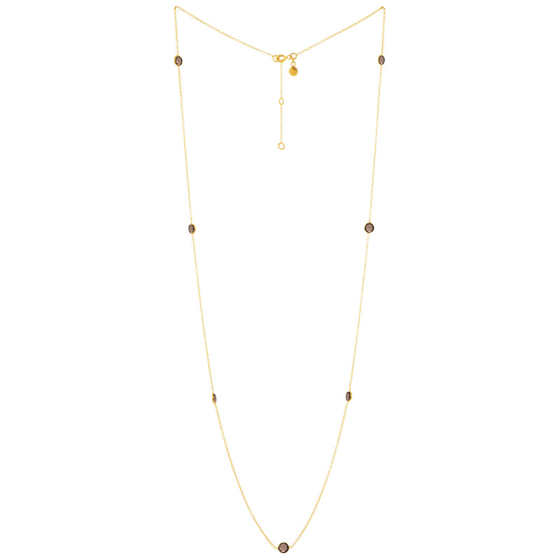 Round Stone dotted Chain Gold