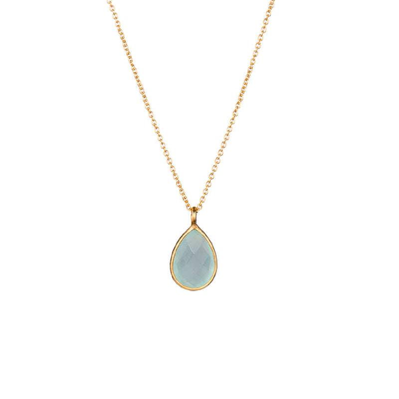 Necklace Chain with Teardrop Gold