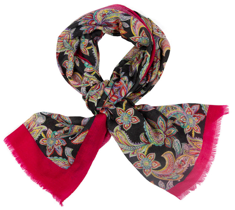 Cashmere Scarf - Printed Stoles- Paisley