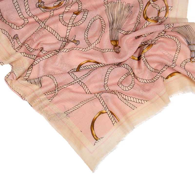 Cashmere Scarf - Printed Stoles- Ropes
