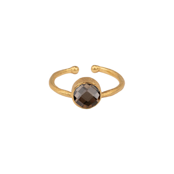 Kleiner runder Ring - Multi Set Gold