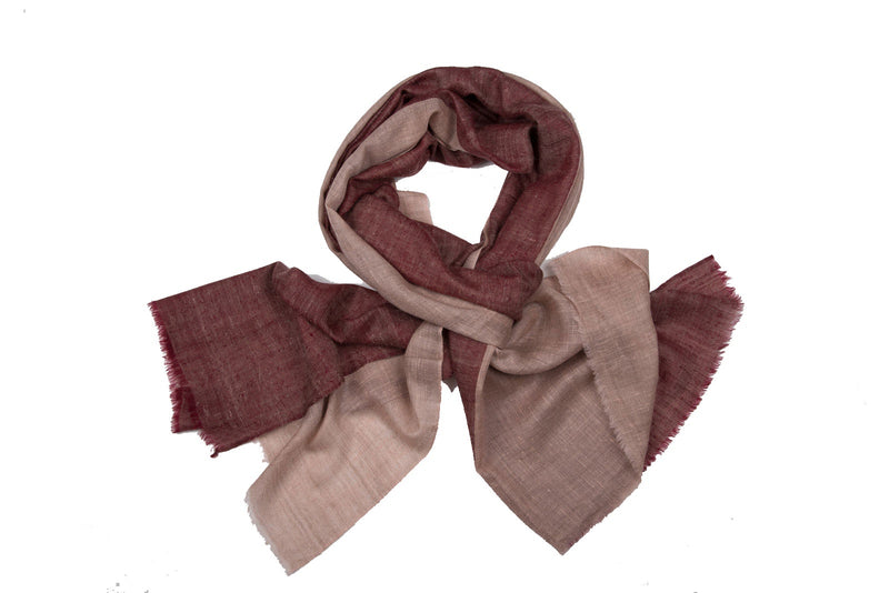 Double colour blocks - Maroon + Beige