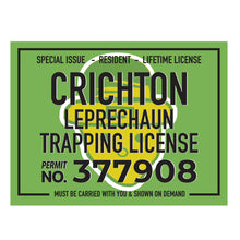 Crichton LepreChaun Trapping License T-shirt