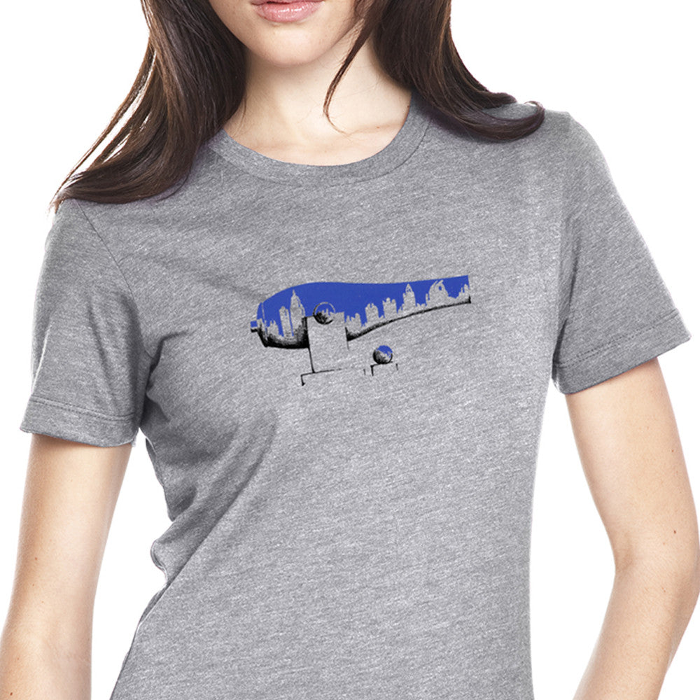 Ladies Blue Midtown War Paint T-Shirt