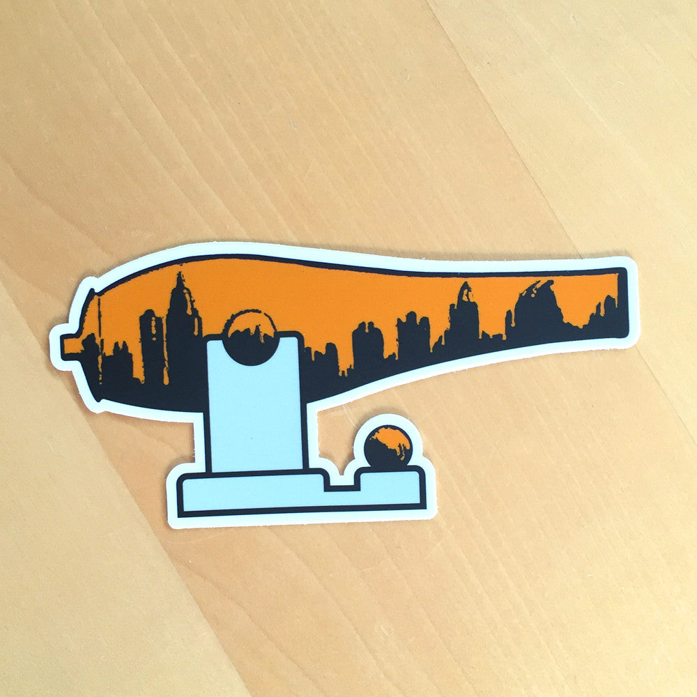 Orange Midtown War Paint Sticker