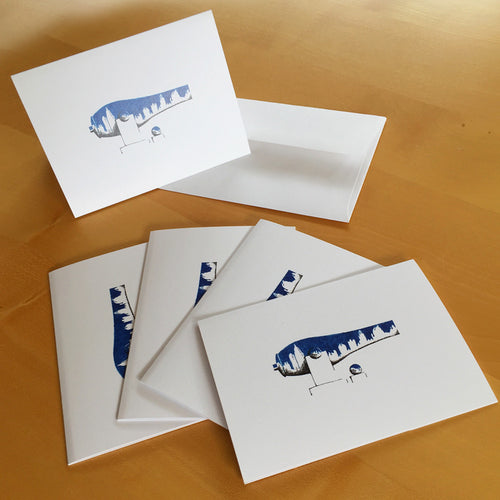 Blue Midtown War Paint Note Cards