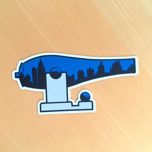 Blue Midtown War Paint Sticker