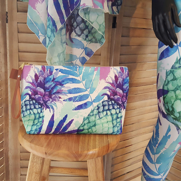 Pineapple Tropical Makeup Bag