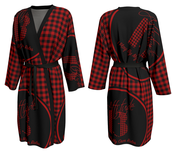 Attitude 13 Red Flannel Design Peignoir