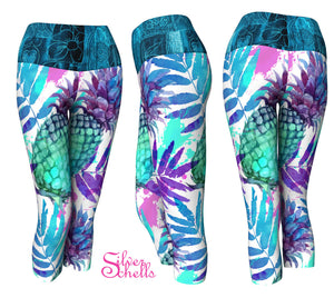 Pineapple Tropical Yoga Capris