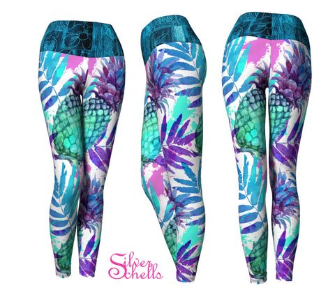Pineapple Tropical Yoga Leggings
