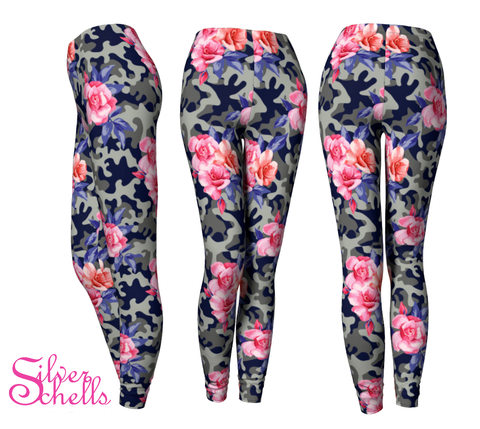 Rose Camouflage Leggings