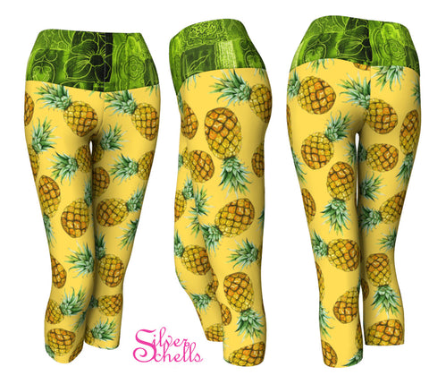 Pineapple Yellow Yoga Capris