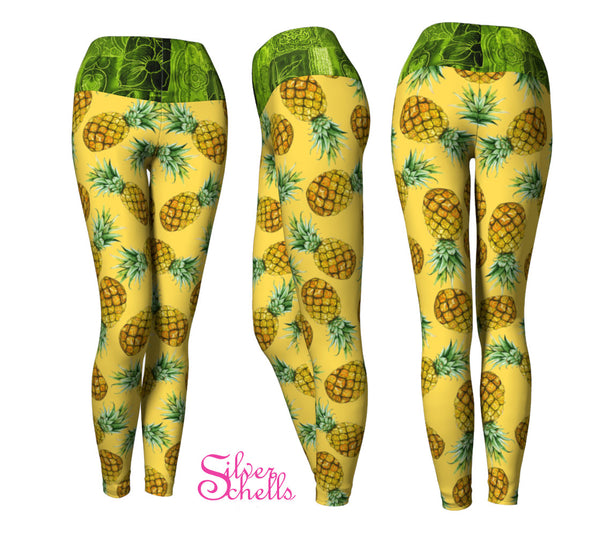 Pineapple Yellow Yoga Leggings