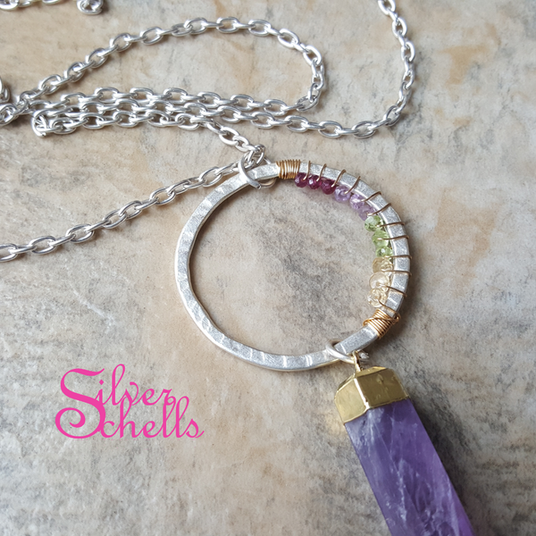 Handcrafted Soulful Amethyst Necklace