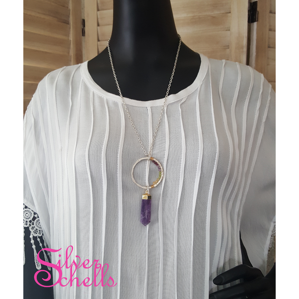 Handcrafted Soulful Romantic Amethyst Necklace