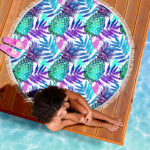 Tropical Pineapple Beach Towel