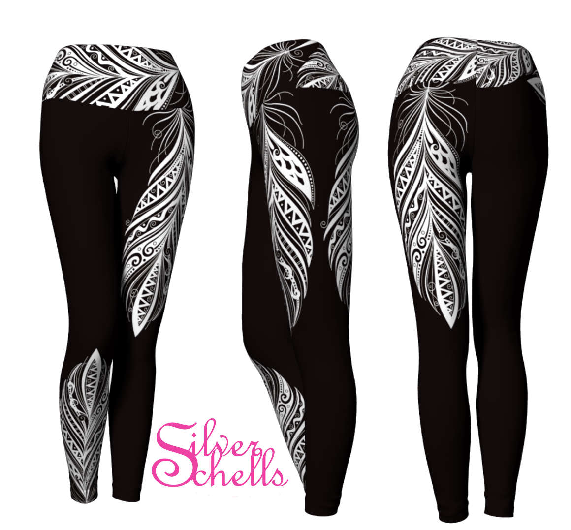 Black Bohemian Free Spirit Yoga Pants