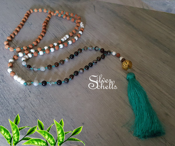3 Colors Mala Necklace Long Tassel Necklaces