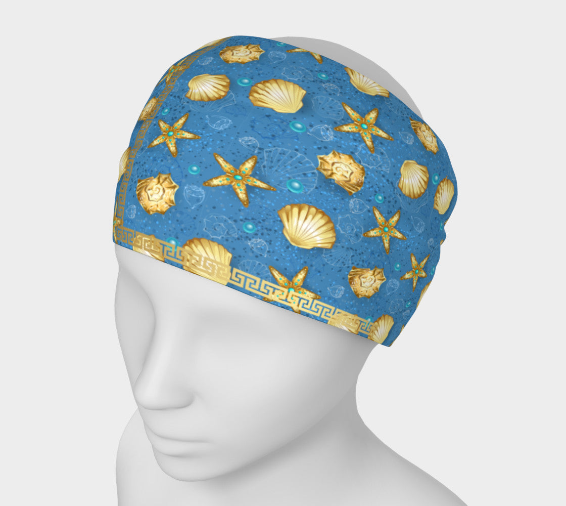 Golden Star Fish and Seashells Headband
