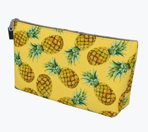 Pineapple Yellow Makeup Bag